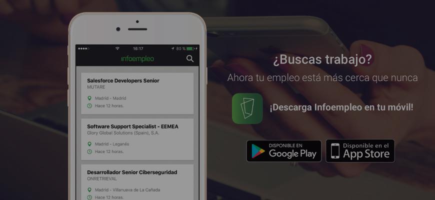 Las descargas de la app de Infoempleo crecen un 30% cada mes